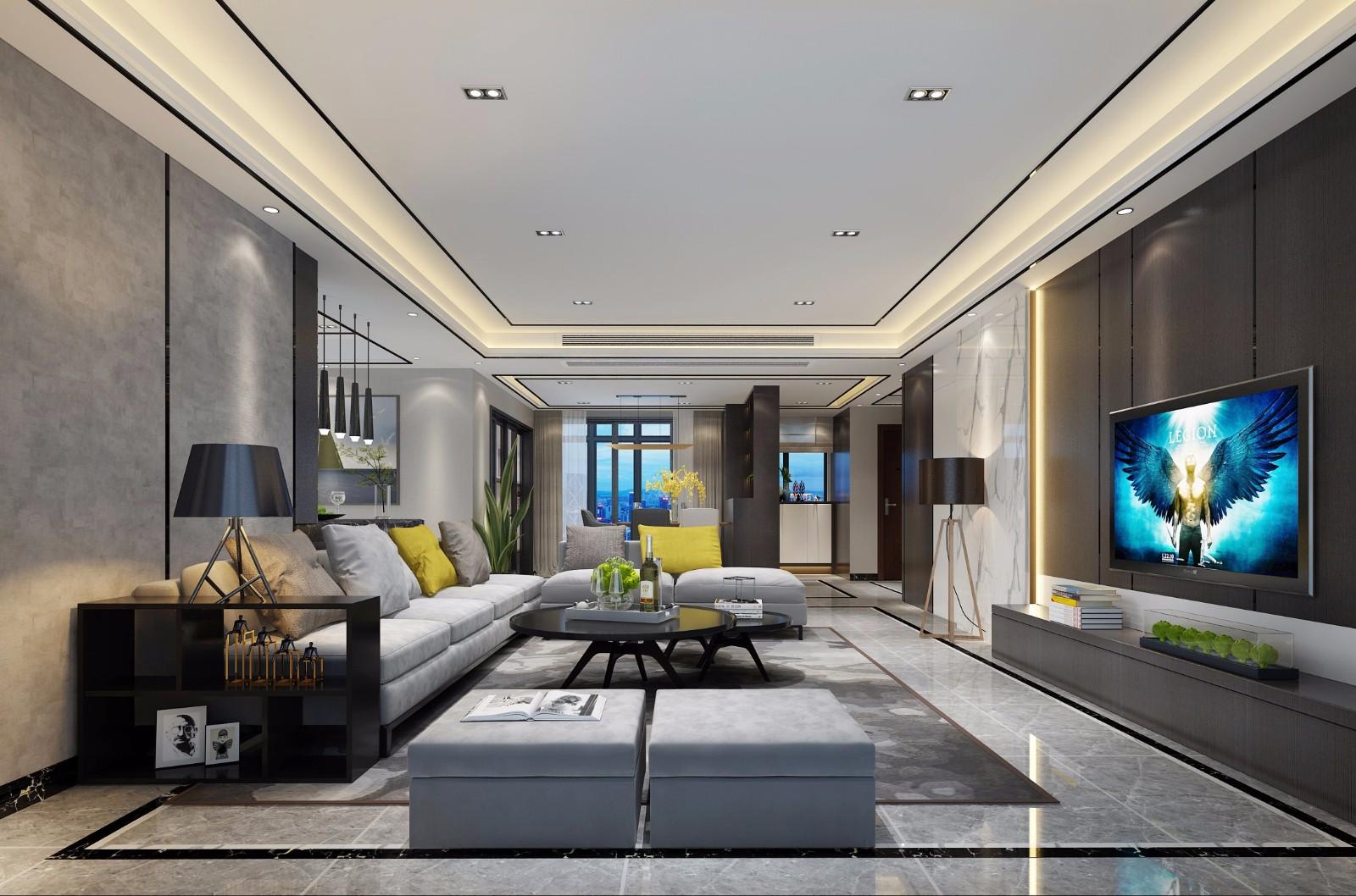180平现代风格套房装修效果图
