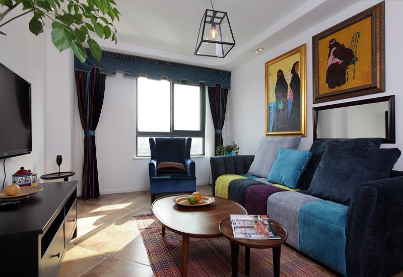 109平美式风格两居室装修效果图