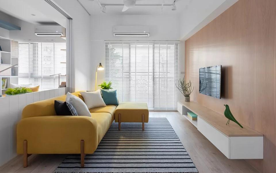 93平北欧风格三室两厅装修效果图
