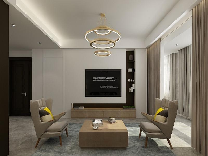 2019现代中式150平米效果图 2019现代中式三居室装修设计图片