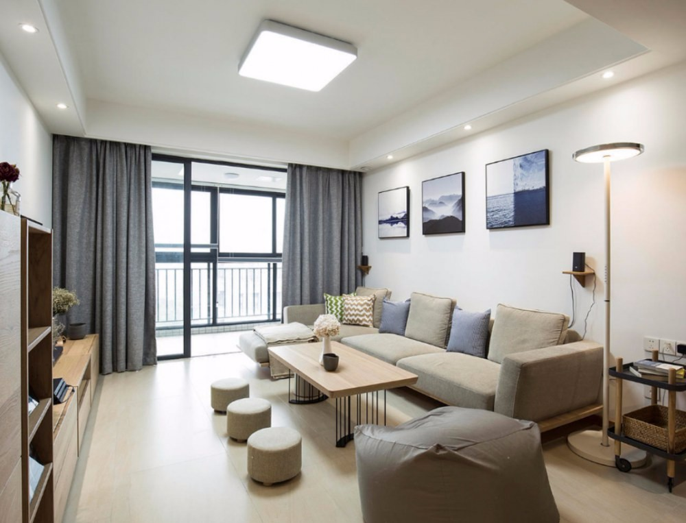 2020現代中式110平米裝修設計 2020現代中式三居室裝修設計圖片