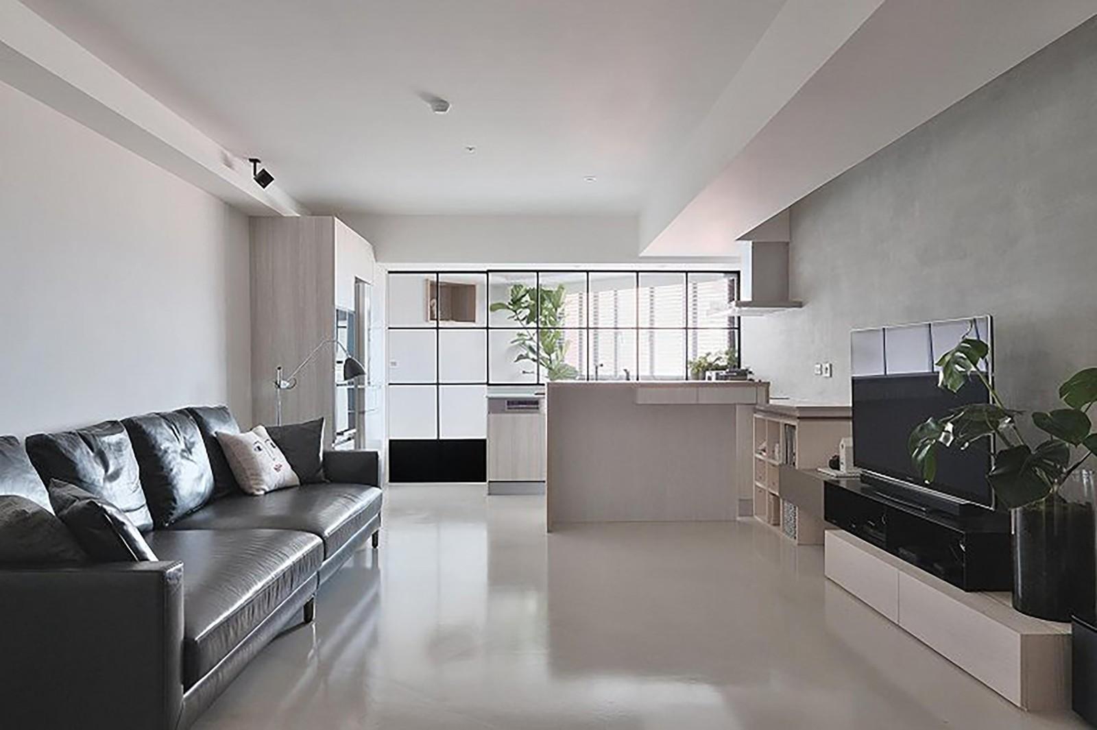 3室2卫1厅80平米现代简约风格