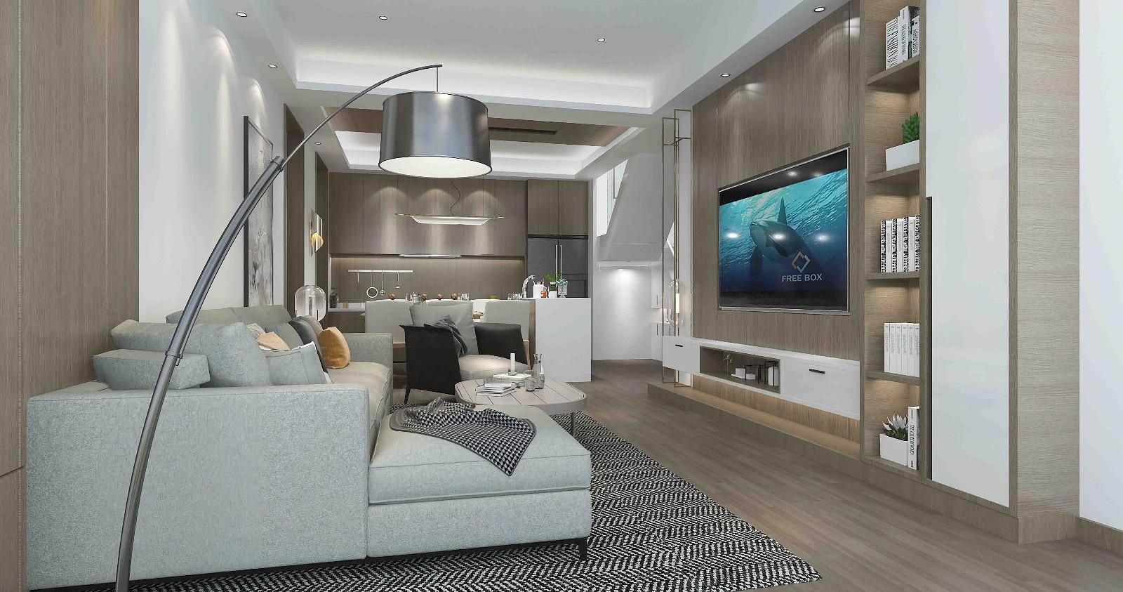 3室2卫1厅180平米现代简约风格