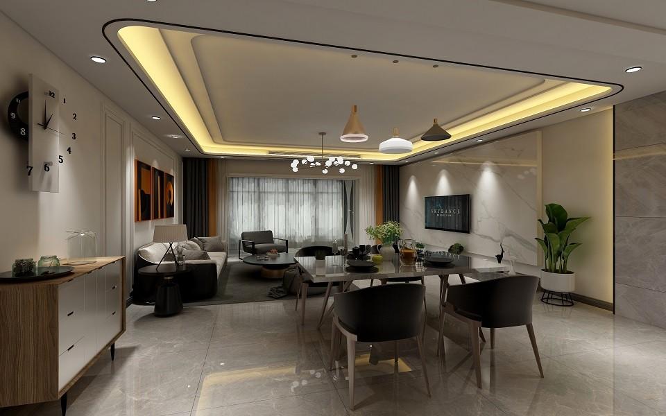 3室2卫1厅141平米现代简约风格