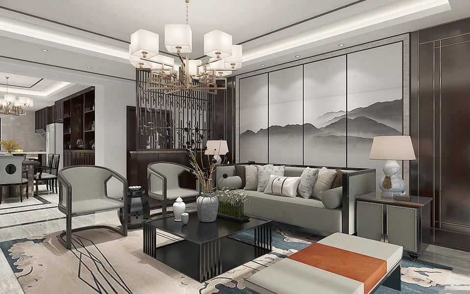 3室2卫2厅169平米中式风格