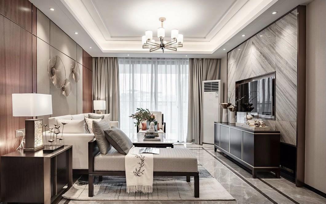 180平新中式风格三居室装修效果图