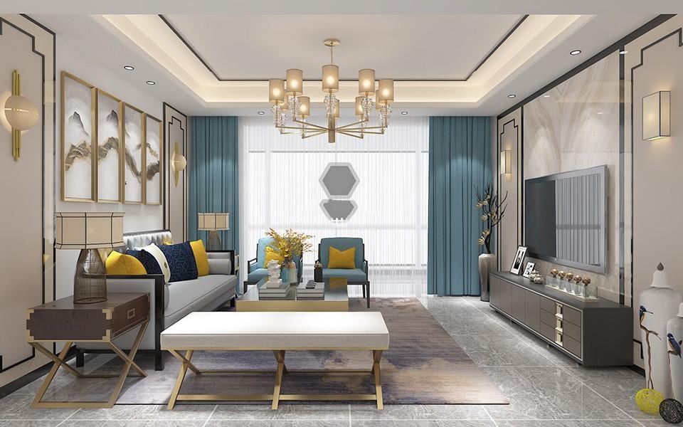 3室2卫2厅124平米中式风格