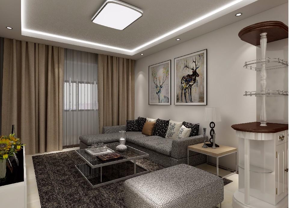 3室1卫2厅119平米现代简约风格