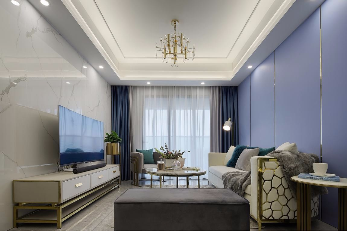 140平现代风格三居室装修效果图