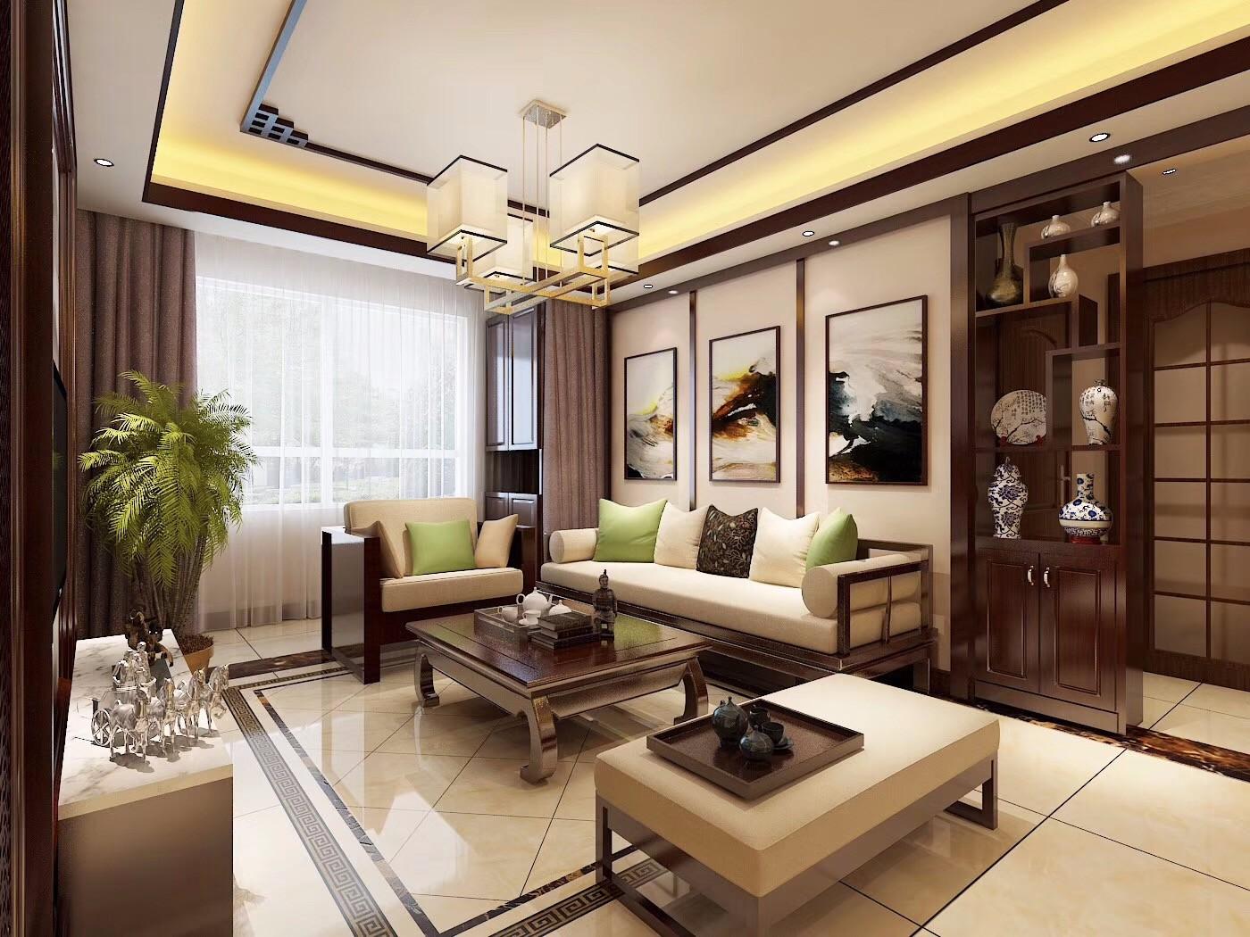 2020中式150平米效果图 2020中式二居室装修设计
