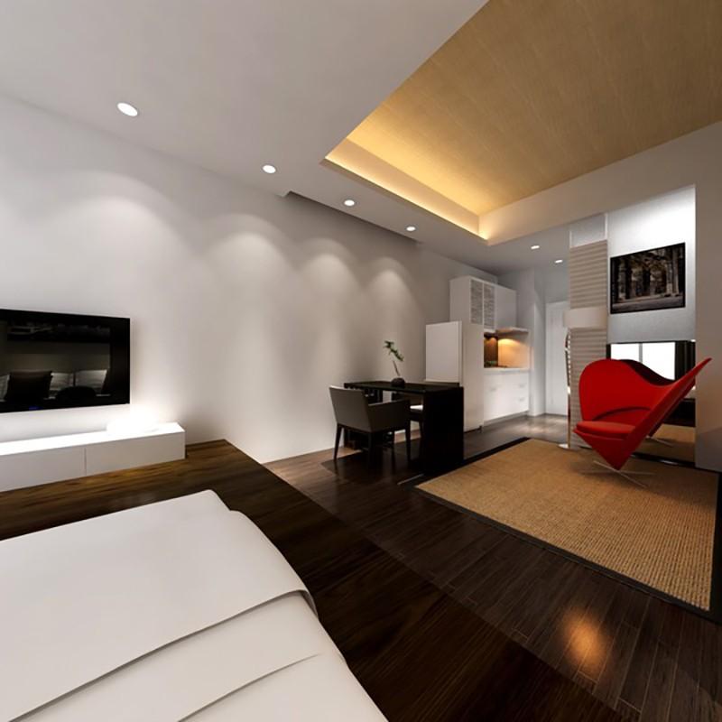 1室1衛1廳現代簡約風格