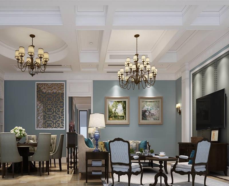 500平美式风格别墅装修效果图
