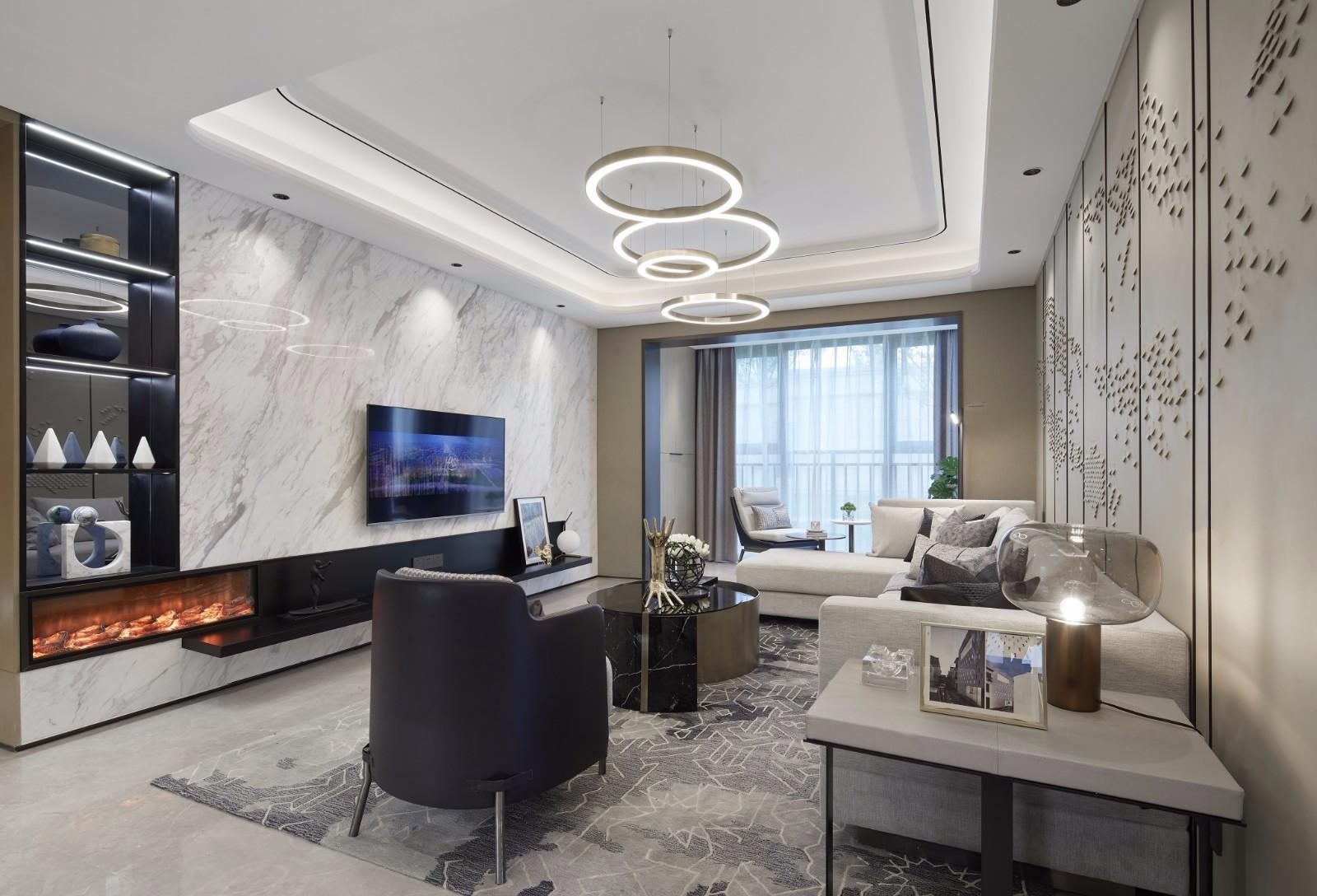 172平现代风格三居室装修效果图