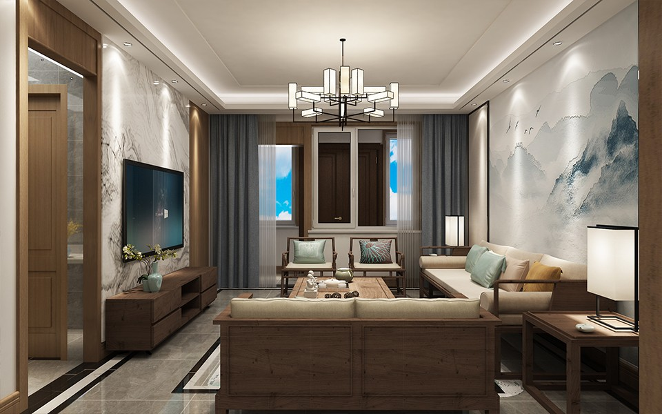200平新中式风格别墅装修效果图