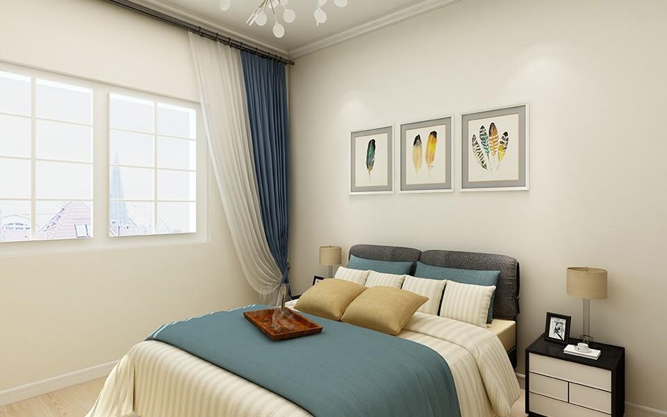 117平现代简约风格两居室装修效果图