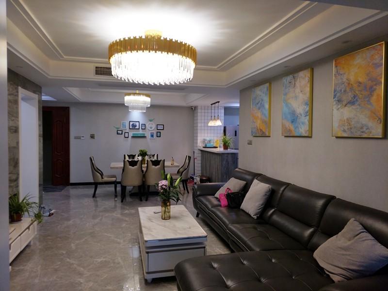 145平现代简约风格三居室装修效果图