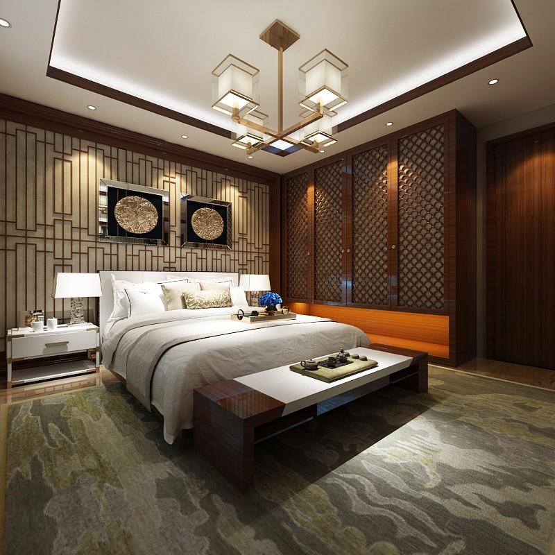 2021中式古典卧室装修设计图片 2021中式古典吊顶设计图片