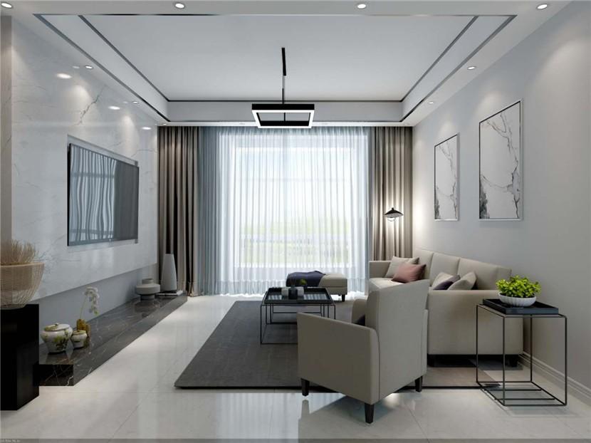 170平現代風格三居室裝修效果圖