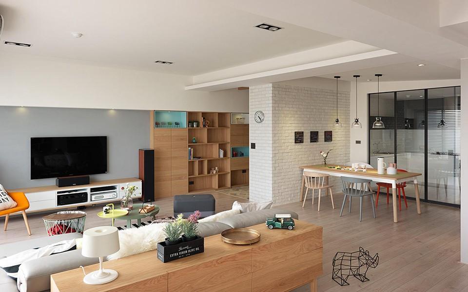 2室1卫1厅71平米北欧风格