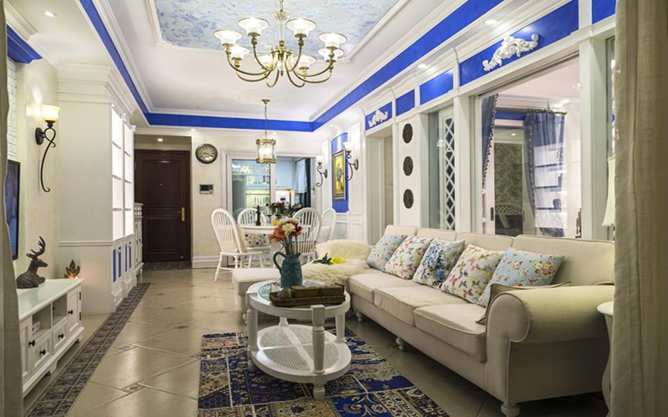 2021地中海90平米装饰设计 2021地中海三居室装修设计图片