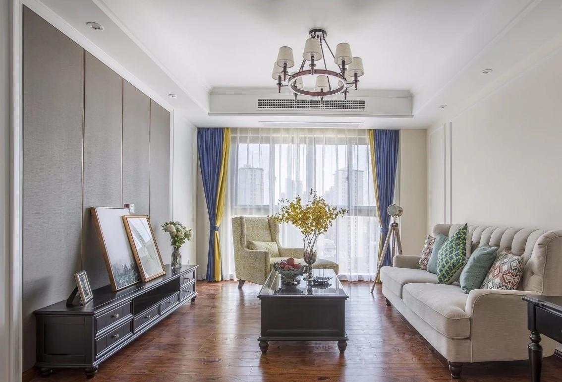 80平米美式风格两室一厅装修设计
