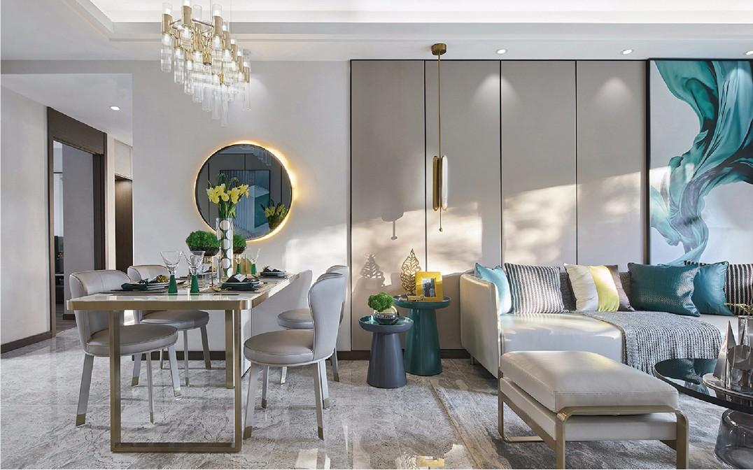 现代时尚风格二居室装修效果图