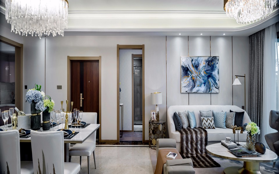 2019欧式150平米效果图 2019欧式套房设计图片