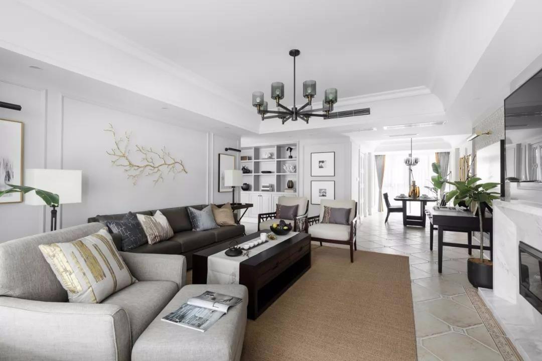 177平优雅美式4室2厅大户型效果图