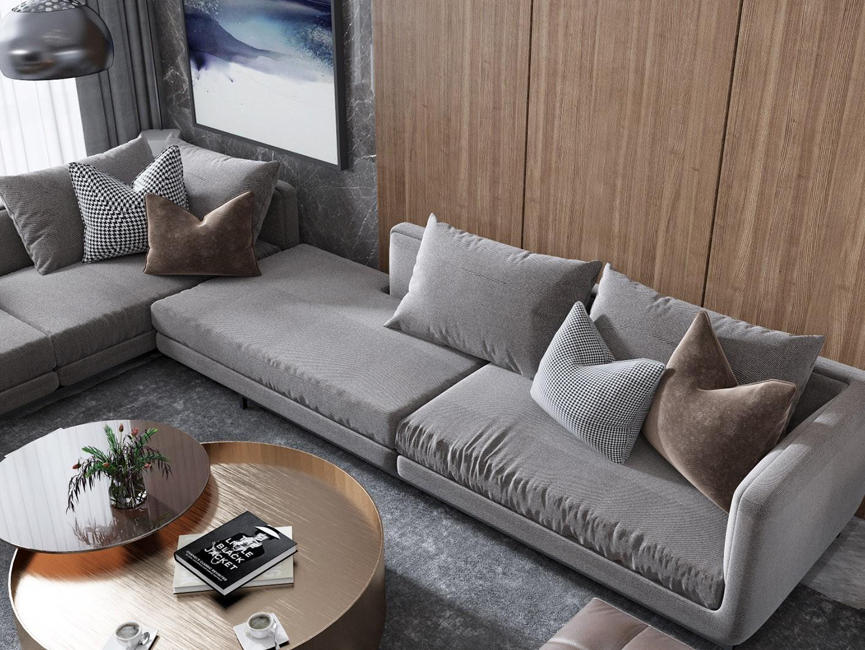 90平米两室一厅现代风格平安彩票网