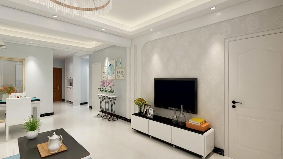 现代简约90平三室两厅装修设计