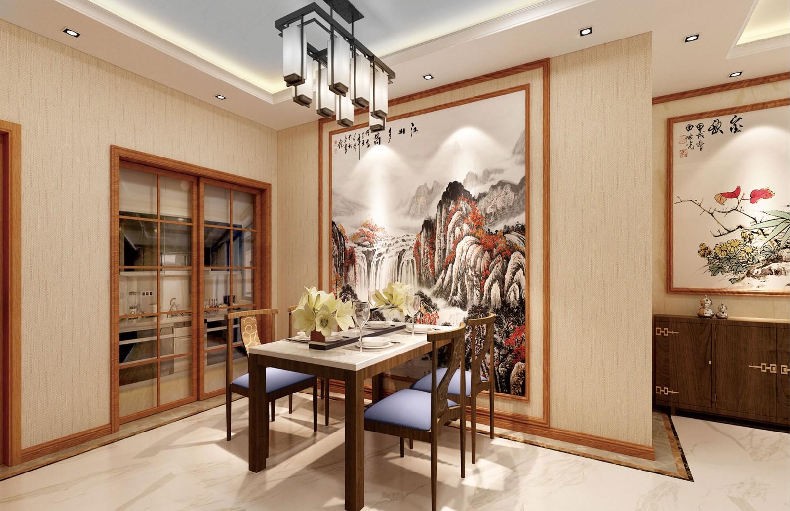 4室2卫1厅110平米中式风格