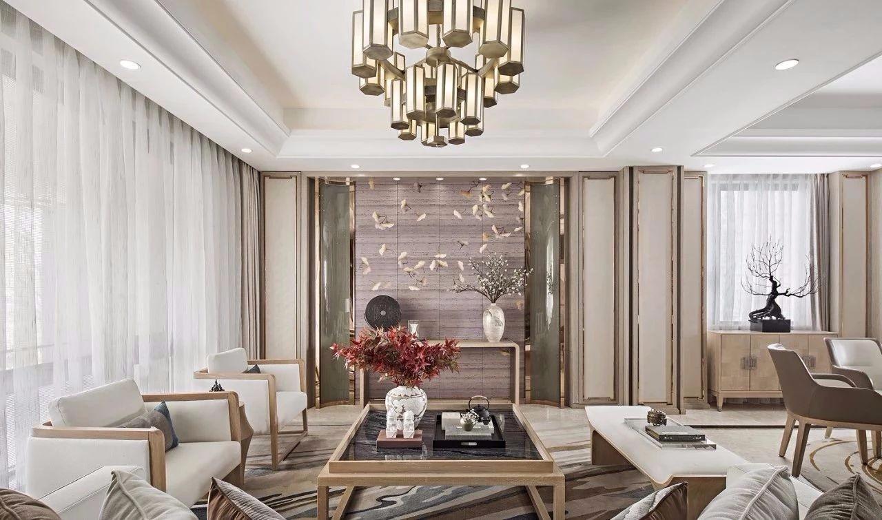新中式风格三居室130平设计效果图