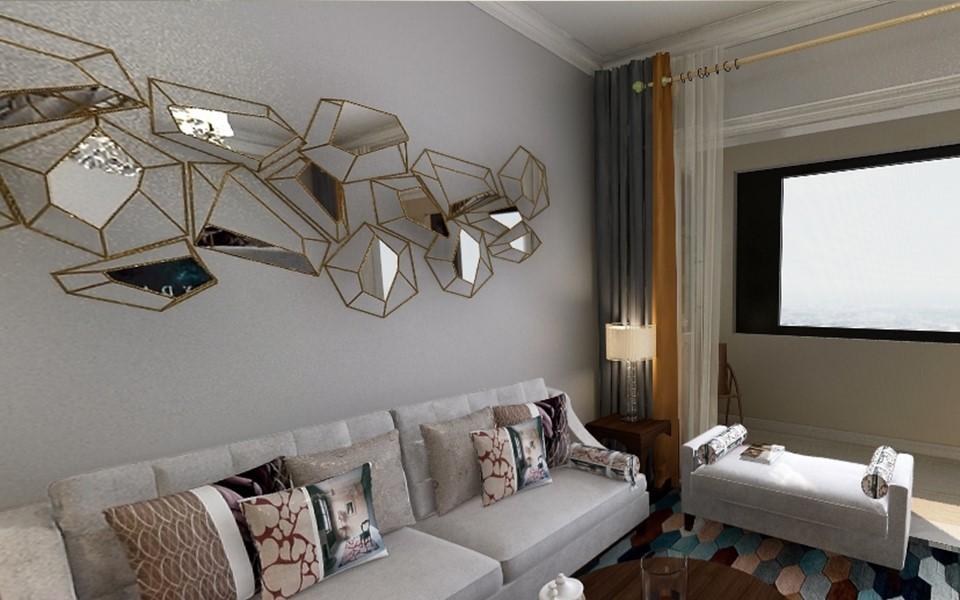 3室1卫2厅90平米简约风格