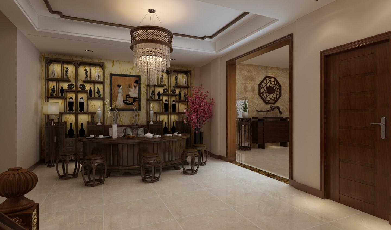 2020中式酒窖裝修設計圖片 2020中式走廊裝修圖片