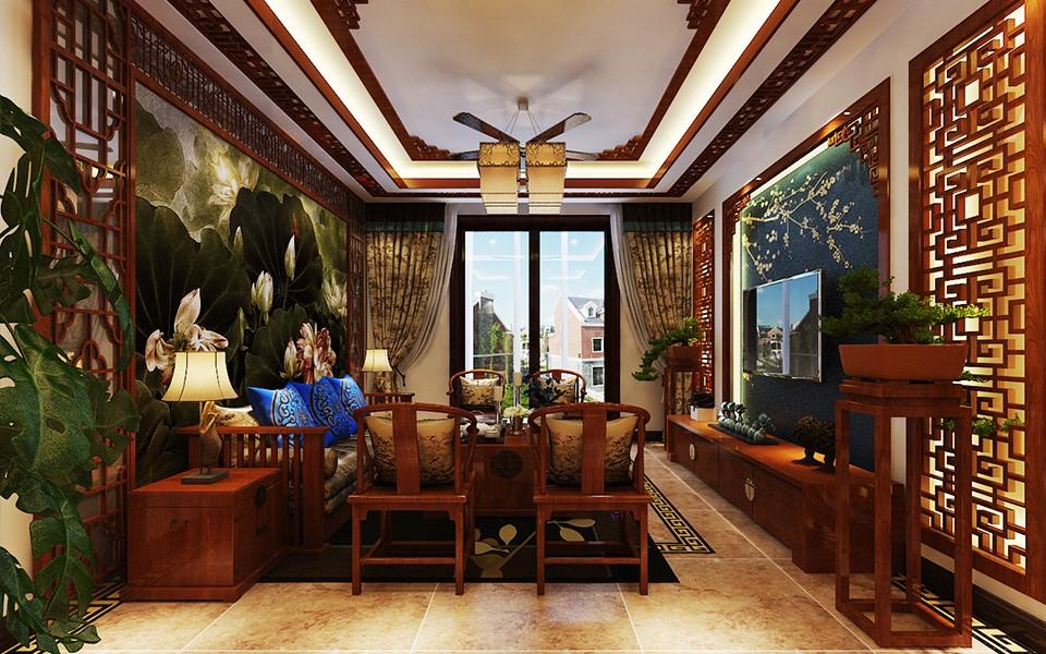 3室2卫2厅156平米中式风格