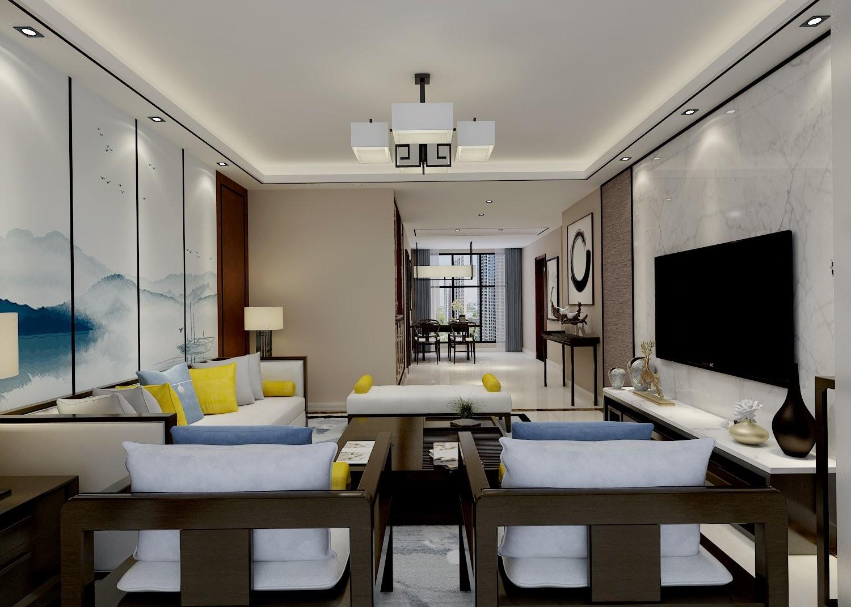 3室2卫2厅127平米新中式风格