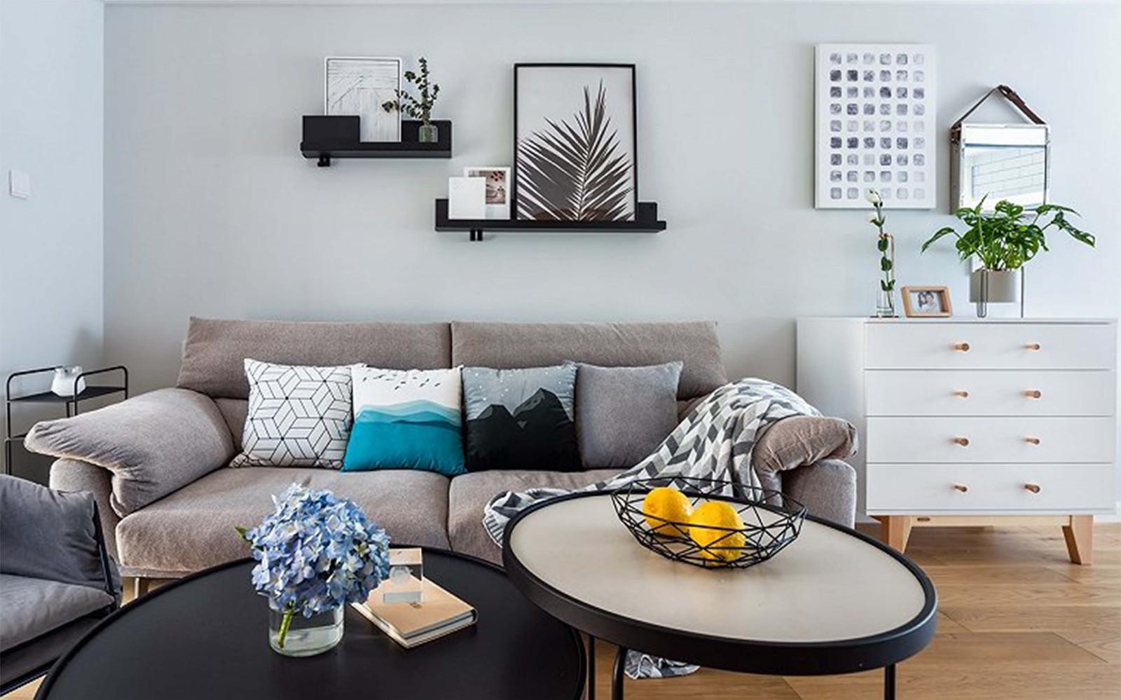 2019北欧起居室装修设计 2019北欧茶几效果图
