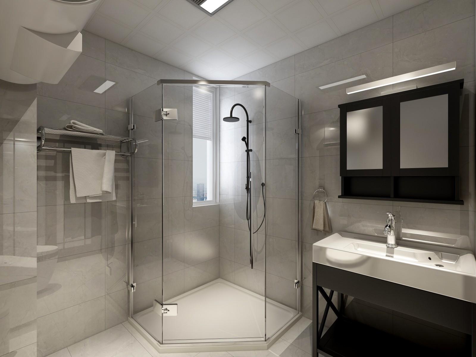 2020简约卫生间装修图片 2020简约淋浴房装修设计图片