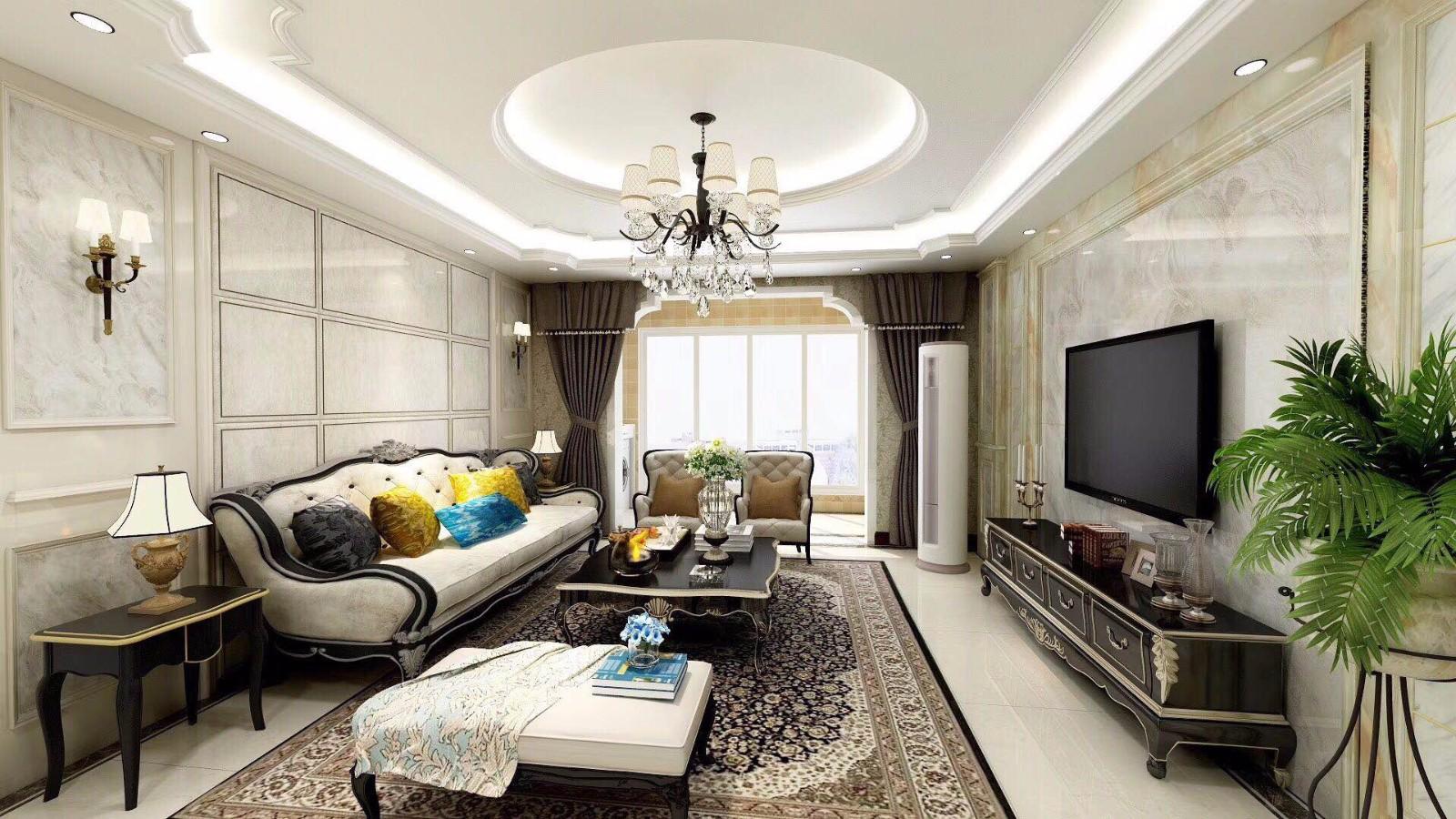 2020新古典150平米效果圖 2020新古典樓房圖片