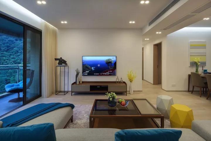 130平三房两厅新中式风格装修效果图