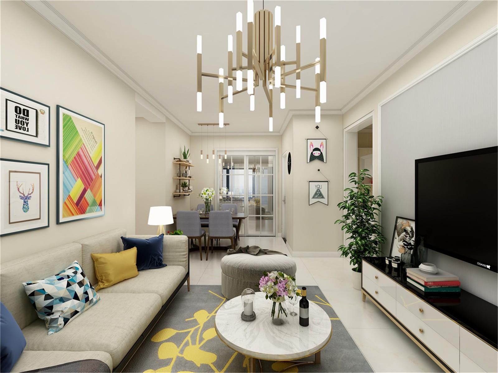 2020經典90平米裝飾設計 2020經典三居室裝修設計圖片