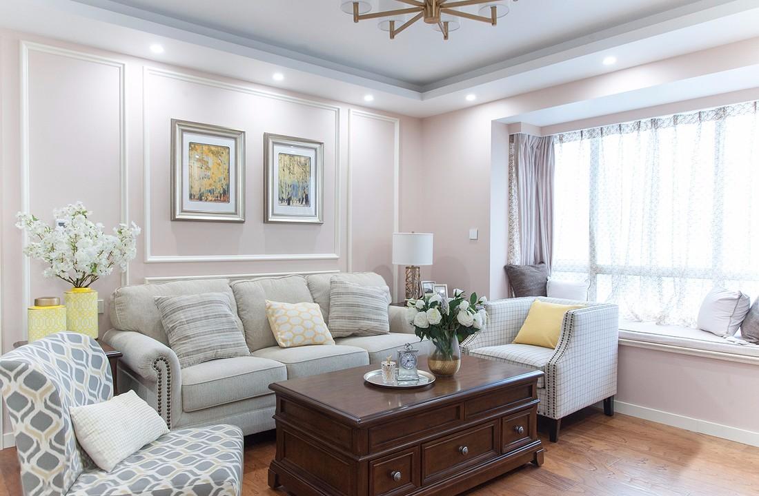 保利江上明珠美式风格三室效果图