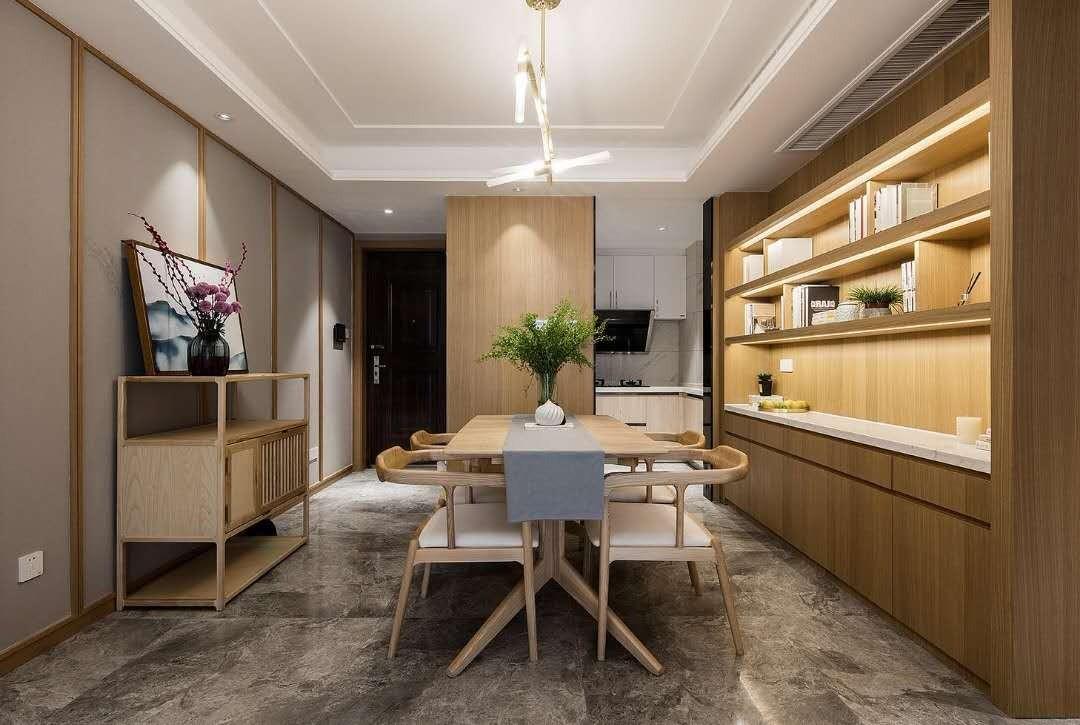 2室2卫2厅105平米新中式风格