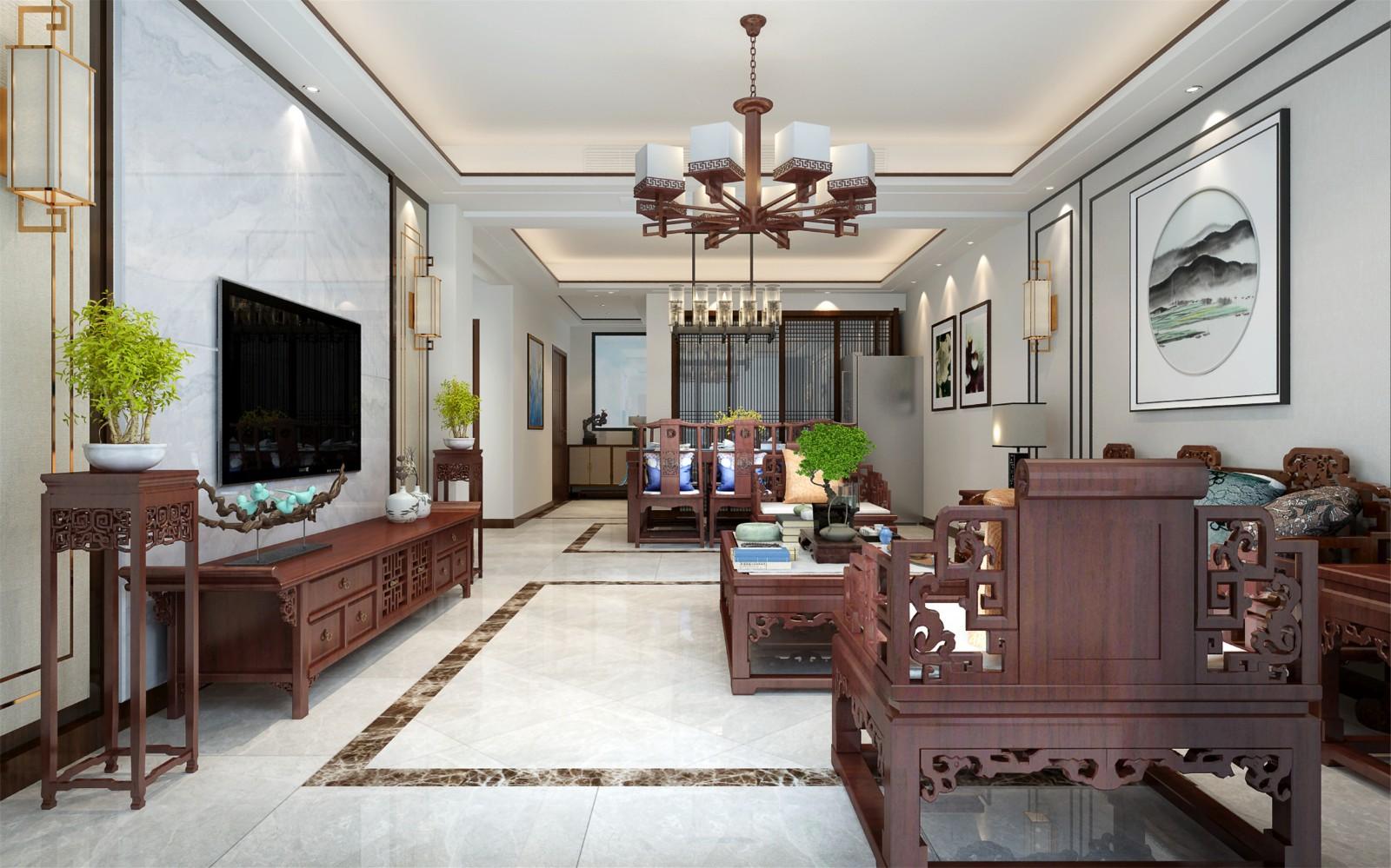4室3卫3厅143平米中式风格