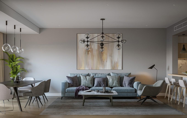 2室2卫1厅150平米现代简约风格
