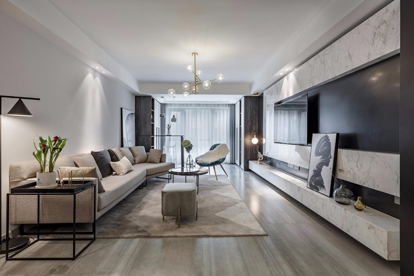 2021简约240平米装修图片 2021简约三居室装修设计图片