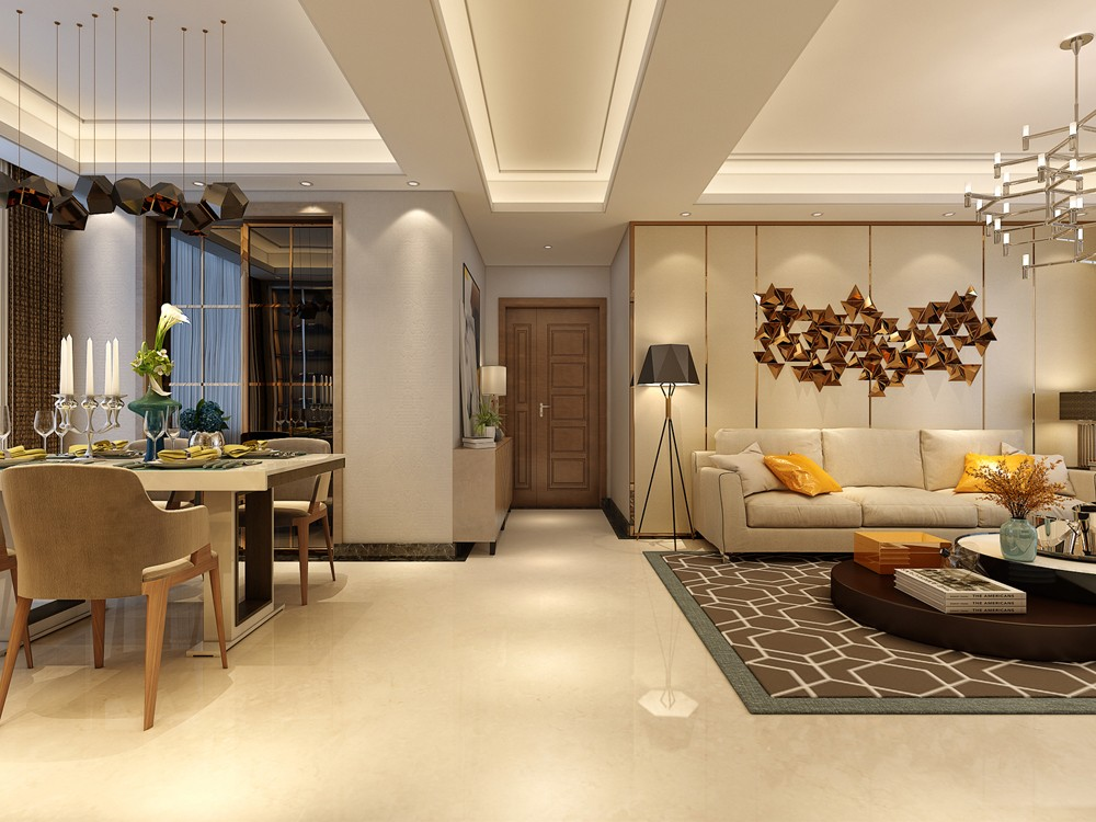 2020簡單150平米效果圖 2020簡單三居室裝修設計圖片
