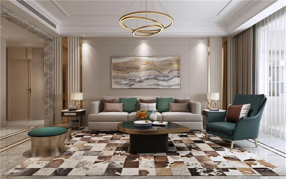 137平3房现代风格装修效果图