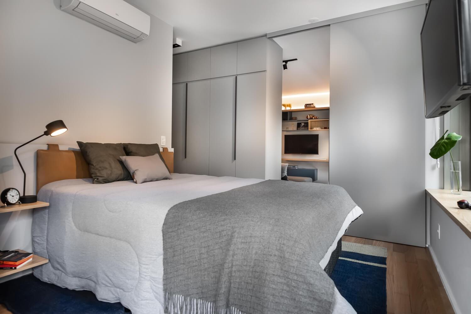 2019工业卧室装修设计图片 2019工业床图片