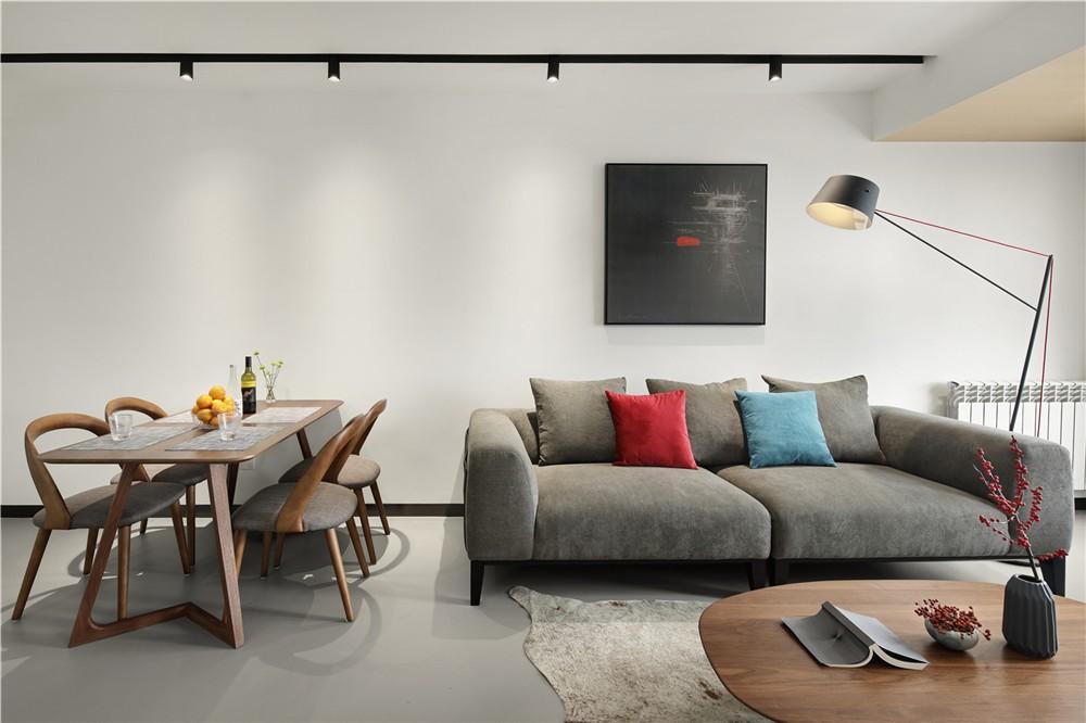 100平小閣樓戶型現代設計客廳裝修效果圖